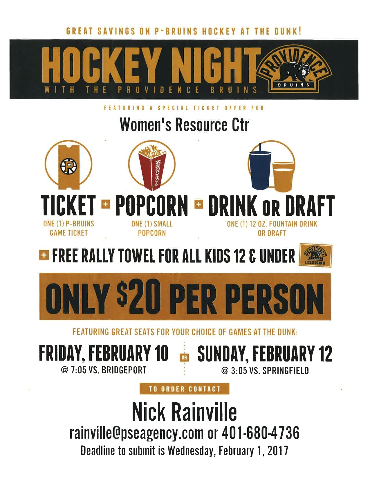 Join WRC At The P-Bruins!