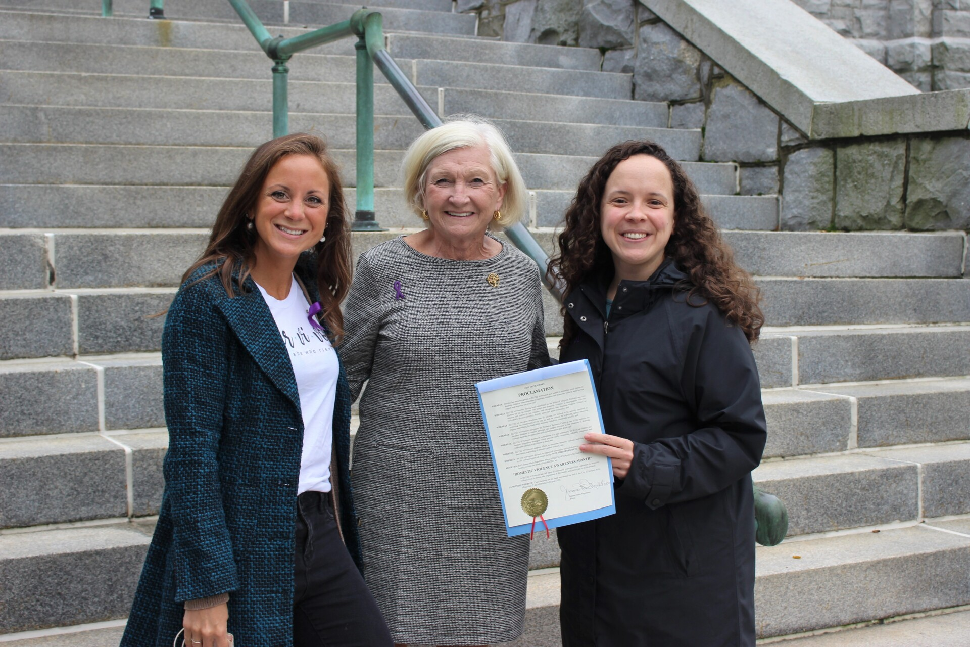 Mayor Of Newport Officially Proclaims October As Domestic Violence Awareness Month